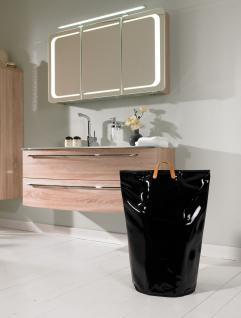 Wäschesammler Wäschetaschen Lack schwarz Wäschebeutel Wäschesack Wäschekorb Multifunktionstasche - Vorschau 3