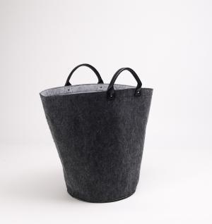 Filztasche HALINA hellgrau , Wäschesammler Wäschetaschen Wäschesack Wäschebox Multifunktionstasche Kaminholzkorb