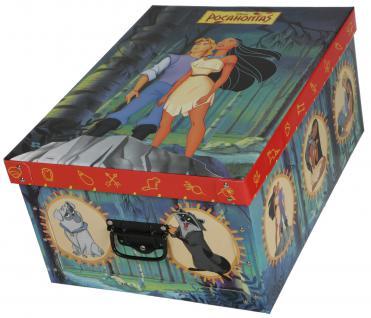 Deko-Karton Bauli Ordnungsboxen Motiv Walt Disney Pocahontas Aufbewahrungsbox für Haushalt Büro Wäsche Geschenkbox Dekokarton Sammelbox Mehrzweckbox Ordnungskarton Ordnungsbox Geschenkekarton