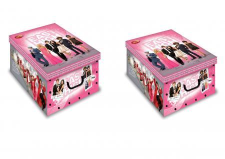 Ordnungsboxen Deko Karton2er Set Box Clip East High School Musical Aufbewahrungsbox
