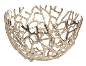 """Aluminium Schale """"Elif"""" (Größe: XL) in Silber rund Tischdekoration Hochzeitdekoration Artra Dekoschüssel Deko Dekoschale Dekoration Geschenk"""