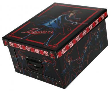 Deko-Karton Bauli Ordnungsboxen Motiv Zorro Aufbewahrungsbox für Haushalt Büro Wäsche Geschenkbox Dekokarton Sammelbox Mehrzweckbox Ordnungskarton Ordnungsbox Geschenkekarton