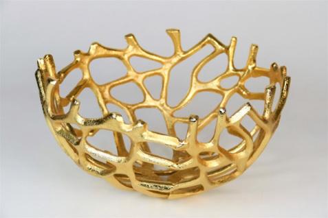 """Aluminium Schale """"Klara"""" (Größe:L) in Gold rund Tischdekoration Hochzeitdekoration Artra Dekoschüssel Deko Dekoschale Dekoration Geschenk"""