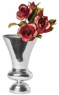 Aluminium Kelchvase M Dekoration Deko Blumenvase Tischvase Artra Silber Dekovase Vase Weihnachten Weihnachten Deko Dekoration Weihnachtsdeko