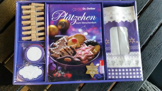 2 x Plätzchen Backbuch zum Verschenken Dr.Oetker Gastgeschenk Geschenkbox Geschenkkarton