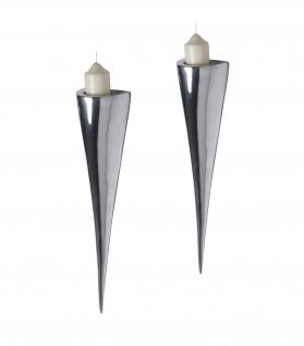 Fackelleuchte aus Aluminium 2er SET Teelichthalter Kerzenhalter Kerzenleuchter Gastgeschenke