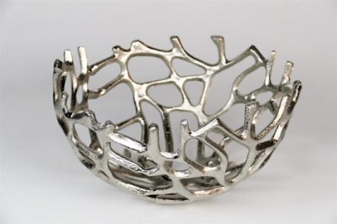 """Aluminium Schale """"Klara"""" (Größe: L) in Silber rund Tischdekoration Hochzeitdekoration Artra Dekoschüssel Deko Dekoschale Dekoration Geschenk"""