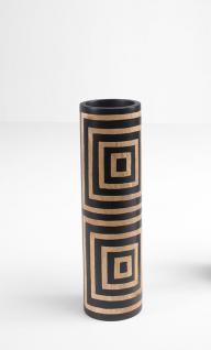 Mango-Holz-Vase Quadrate, Echtholz 36 cm hoch