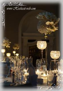 Kristall Kerzenständerr Marie L 2er SET Teelichthalter Kerzenhalter Kerzenleuchter Tischdeko Gastgeschenke silber Weihnachten Weihnachten Deko Dekoration - Vorschau 4