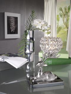 Kristall Kerzenständer Marie auf Hirsch Teelichthalter Kerzenhalter Kerzenleuchter Tischdeko Gastgeschenke silber - Vorschau 3