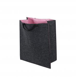 Filztasche RITA pink , Wäschesammler Wäschetaschen Wäschesack Wäschebox Multifunktionstasche Kaminholzkorb