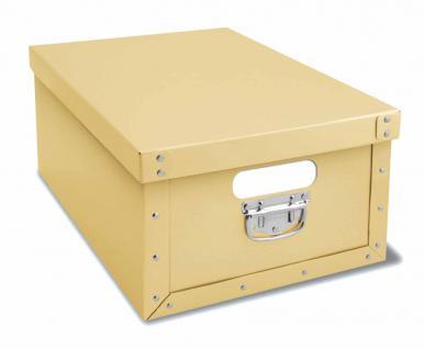 Deko-Karton Bauli Ordnungsboxen beige Aufbewahrungsbox für Haushalt Büro Wäsche Geschenkbox Dekokarton Sammelbox Mehrzweckbox Ordnungskarton Ordnungsbox Geschenkekarton