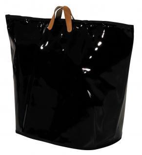 Wäschesammler Wäschetaschen Lack schwarz breit Wäschebeutel Wäschesack Wäschekorb Multifunktionstasche