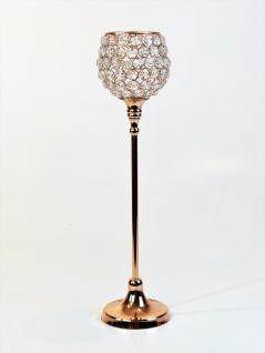 Kristall Kerzenständer Marie L in KUPFER Teelichthalter Kerzenhalter Kerzenleuchter Tischdeko Gastgeschenke