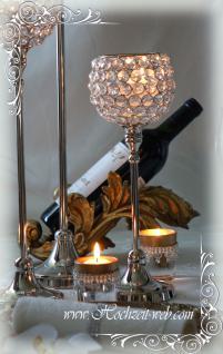 Kristall Kerzenständerr Marie L 2er SET Teelichthalter Kerzenhalter Kerzenleuchter Tischdeko Gastgeschenke silber Weihnachten Weihnachten Deko Dekoration - Vorschau 3