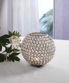 Kristall Kerzenständer Kugel Big 21cm in KUPFER Teelichthalter Kerzenhalter Kerzenleuchter Tischdeko Gastgeschenke