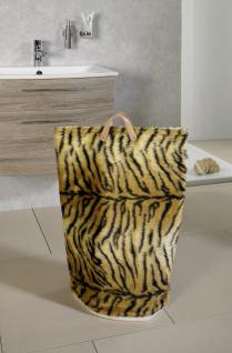 Wäschesammler Bad Wäschetaschen Tiger in Fellimitat Wäschebeutel Wäschesack Wäschekorb Multifunktionstasche - Vorschau 2