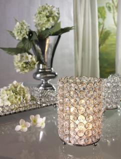 Kristall Kerzenständer Lucy-Silber, Aluminium und Glaskristalle Teelichthalter Kerzenhalter Kerzenleuchter Tischdeko Gastgeschenke Weihnachtsdekoration Weihnachten silber - Vorschau 2