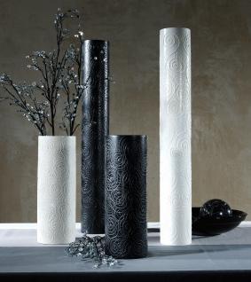 Mango-Holz-Vase 36cm schwarz lackiert, Echtholz
