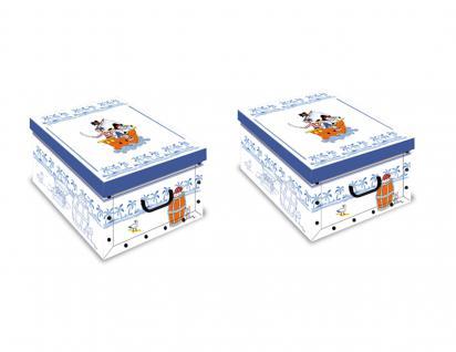 Ordnungsboxen Deko Karton Clip 2er SET Motiv Pirati blau Aufbewahrungsbox für Haushalt Büro Wäsche Geschenkbox Dekokarton Sammelbox Mehrzweckbox Ordnungskarton Ordnungsbox Geschenkekarton