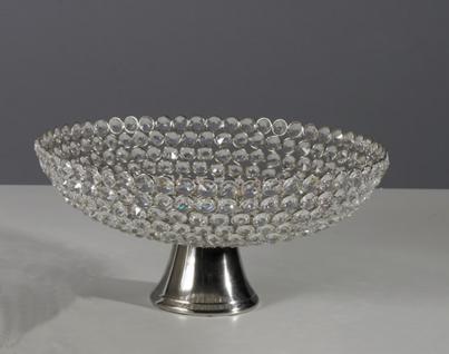 Kristallschale Crystallight Schale Dekoschale Tischdekoration Hochzeitdekoration Artra Deko Dekoschale Dekoration Geschenk silber Weihnachten Weihnachten Deko Dekoration
