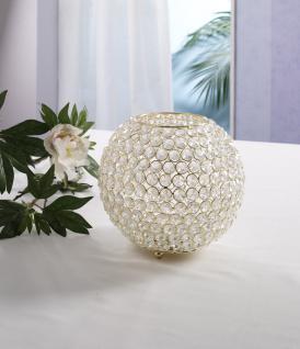 Kristall Kerzenständer Kugel Big 21cm in GOLD Teelichthalter Kerzenhalter Kerzenleuchter Tischdeko Gastgeschenke