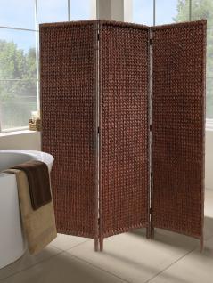 Paravent aus Wasserhyazinthe-Geflecht braun Raumteiler Trennwand Sichtschutz Sonnenschutz Lichtschutz