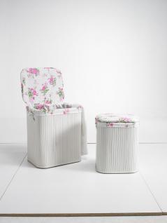 Wäschesammler, Wäschebehälter Truhen 2er SET Romantic Bambus Wäschebehälter Wäschesortierer Wäschetruhe Wäschetonne Wäschebox