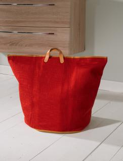 Wäschesammler Wäschetaschen Baumwolle rot breit Wäschebeutel Wäschesack Wäschekorb Multifunktionstasche