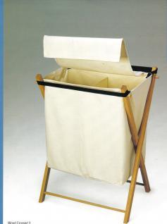 Wäschesammler XL Buchegestell ecru Wäschebeutel Wäschesack Wäschekorb Multifunktionstasche