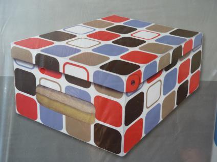 "Deko Karton3er SET 50 cm groß "" Quadrat"" Ordnungsboxen"