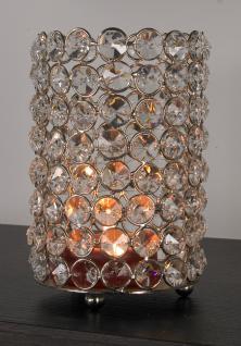Kristall Kerzenständer Lucy-Silber, Aluminium und Glaskristalle Teelichthalter Kerzenhalter Kerzenleuchter Tischdeko Gastgeschenke Weihnachtsdekoration Weihnachten silber