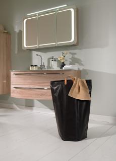 Wäschesammler Wäschetaschen Kunstleder braun Wäschebeutel Wäschesack Wäschekorb Multifunktionstasche - Vorschau 3