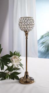 Kristall Kerzenständer Marie L in KUPFER Teelichthalter Kerzenhalter Kerzenleuchter Tischdeko Gastgeschenke - Vorschau