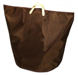 Wäschesammler Wäschetaschen Nylon braun breit Wäschebeutel Wäschesack Wäschekorb Multifunktionstasche