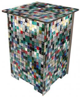 Hocker, Photohocker, Beistelltisch Motiv Mosaikfliesen (bunt)