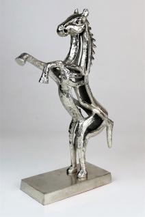 """Dekofgur Pferd """"Akira"""" Tischdeko Geschenk silber Stute Aluminium Hengst Dekoobjekt"""