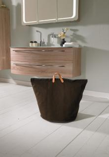 Wäschesammler Wäschetaschen Baumwolle braun breit Wäschebeutel Wäschesack Wäschekorb Multifunktionstasche - Vorschau 3