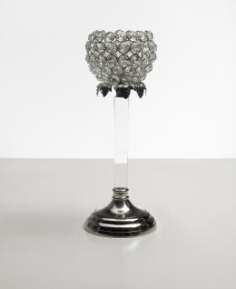 Kristall Kerzenständer Teelichthalter Acryl Teelichthalter Kerzenhalter Kerzenleuchter Tischdeko Gastgeschenke silber Weihnachten Weihnachten Deko Dekoration