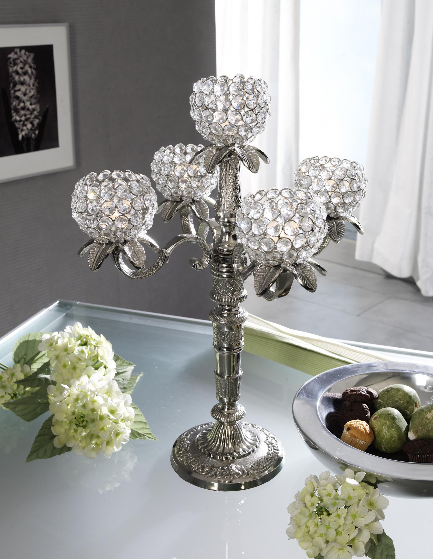 kristall kerzenst nder florence kerzenhalter 5 armig in. Black Bedroom Furniture Sets. Home Design Ideas