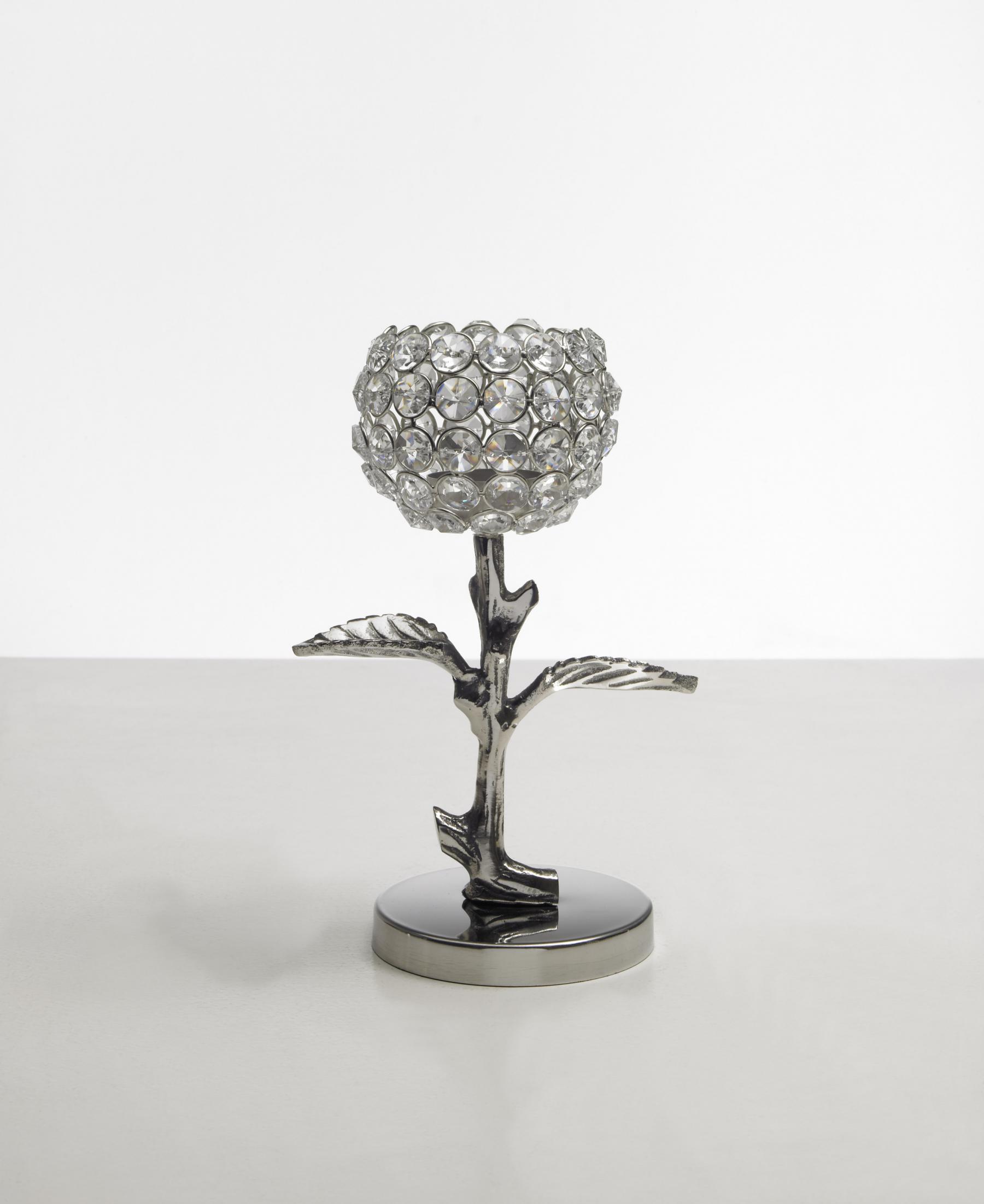 Kristall Kerzenständer Teelichthalter Leaves Teelichthalter ...