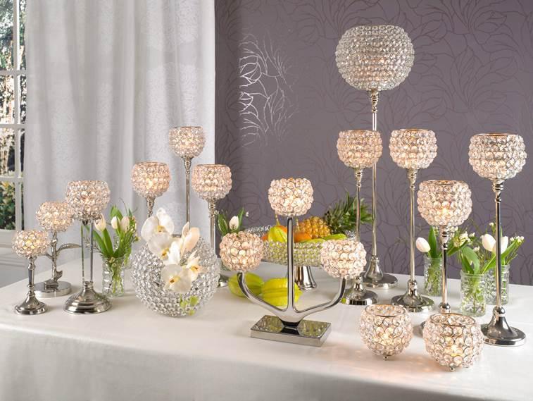 kristall kerzenst nder marie 2er set kugel 10 cm teelichthalter kerzenhalter tafel hochzeit. Black Bedroom Furniture Sets. Home Design Ideas