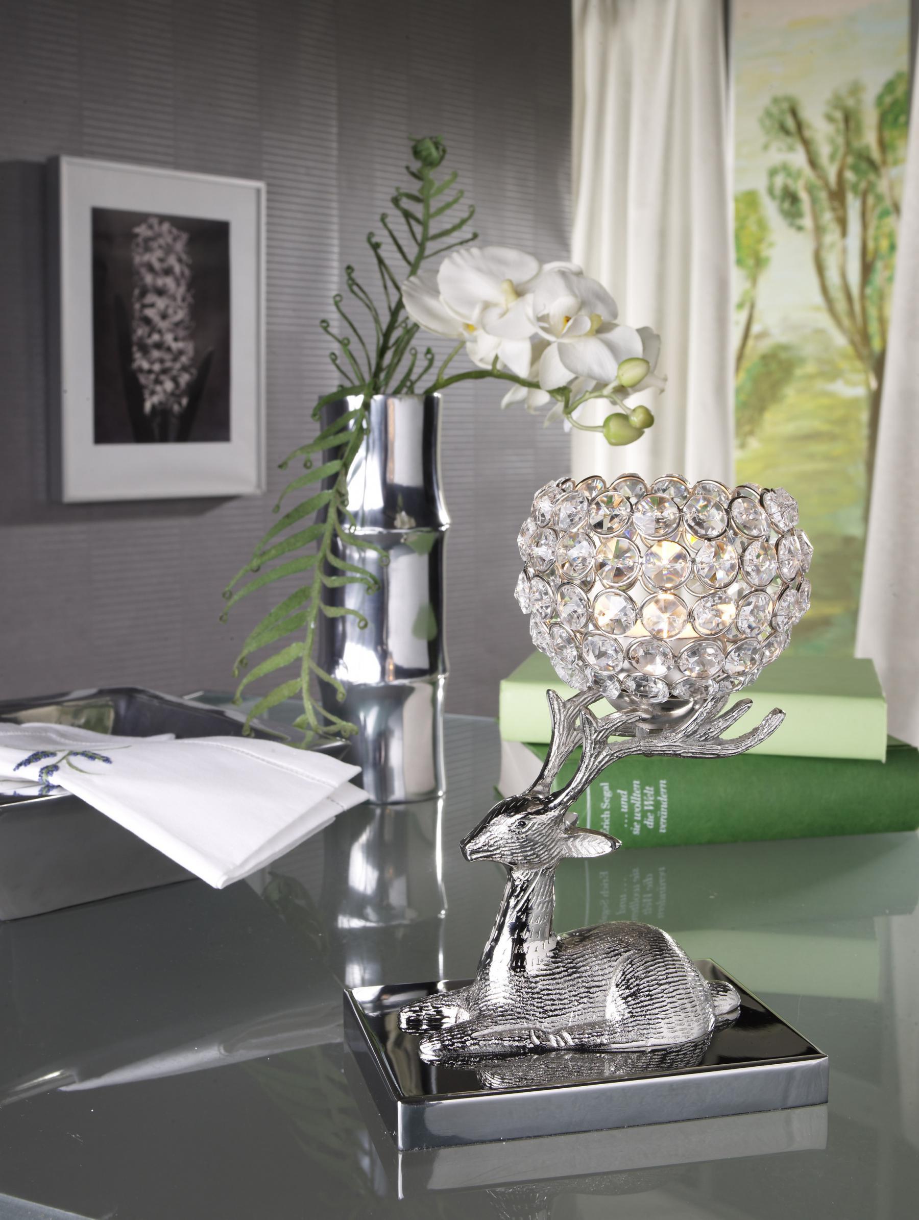 Kristall Kerzenstander Marie Auf Hirsch Teelichthalter Kerzenhalter