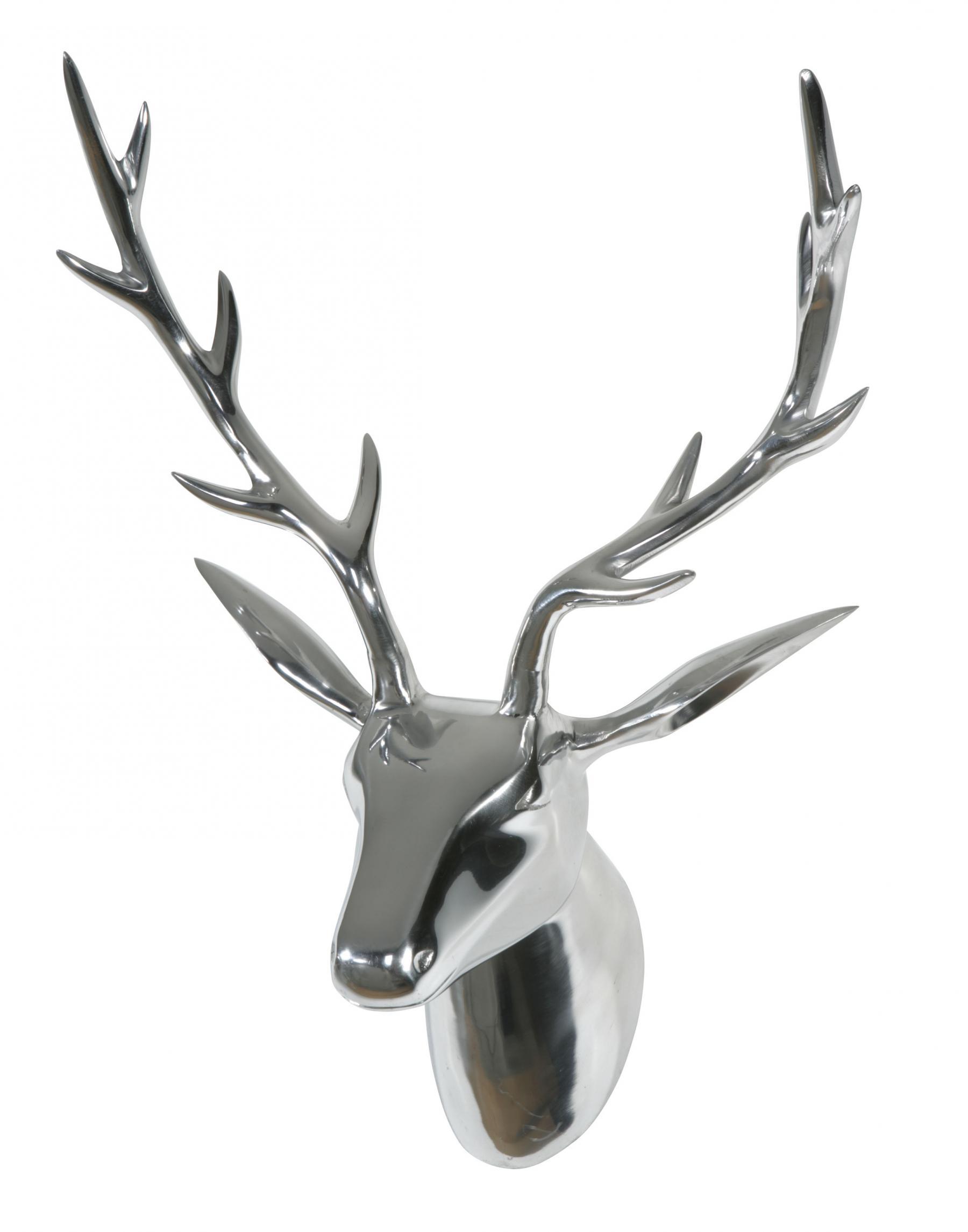 Hirsch Deko Wand.Deko Geweih Hirschkopf Aluminium Poliert Wandfigur Wanddeko Hirschgeweih Hirschkopf Geweih Figur Skulptur Deko Weihnachten Weihnachten Deko Dekoration