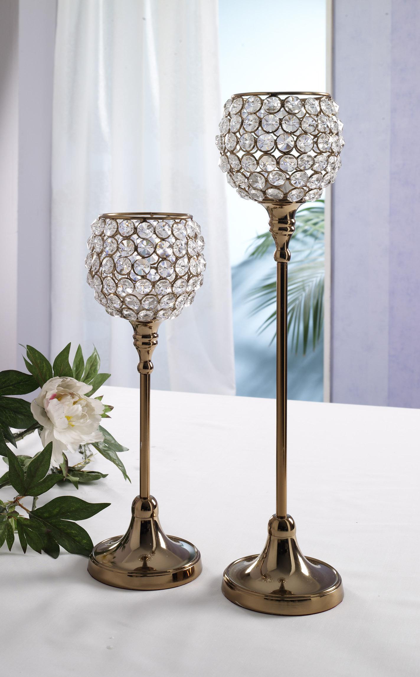 Weihnachtsdeko Kupfer kristall kerzenständer marie 2er set in kupfer crystallights