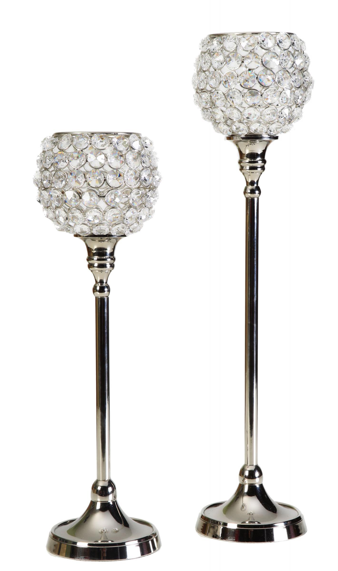 kristall kerzenst nder marie2er set crystallights. Black Bedroom Furniture Sets. Home Design Ideas