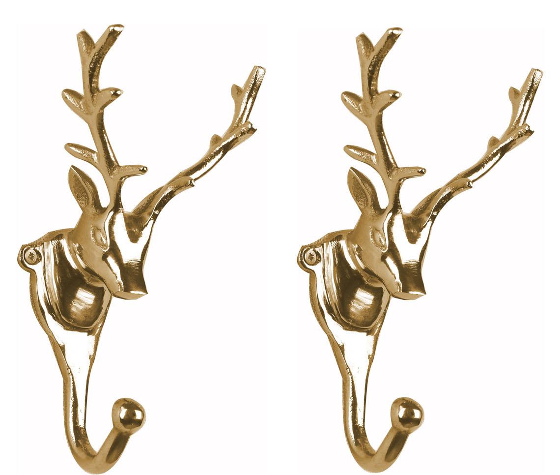 Weihnachtsdeko Gold.Wandgarderobe Kleiderhaken 2er Set Geweih In Gold Hirschgeweih Hirschkopf Geweih Haken Wandhaken Aluminium Geweihhaken Wanddeko Dekoration Wandfigur