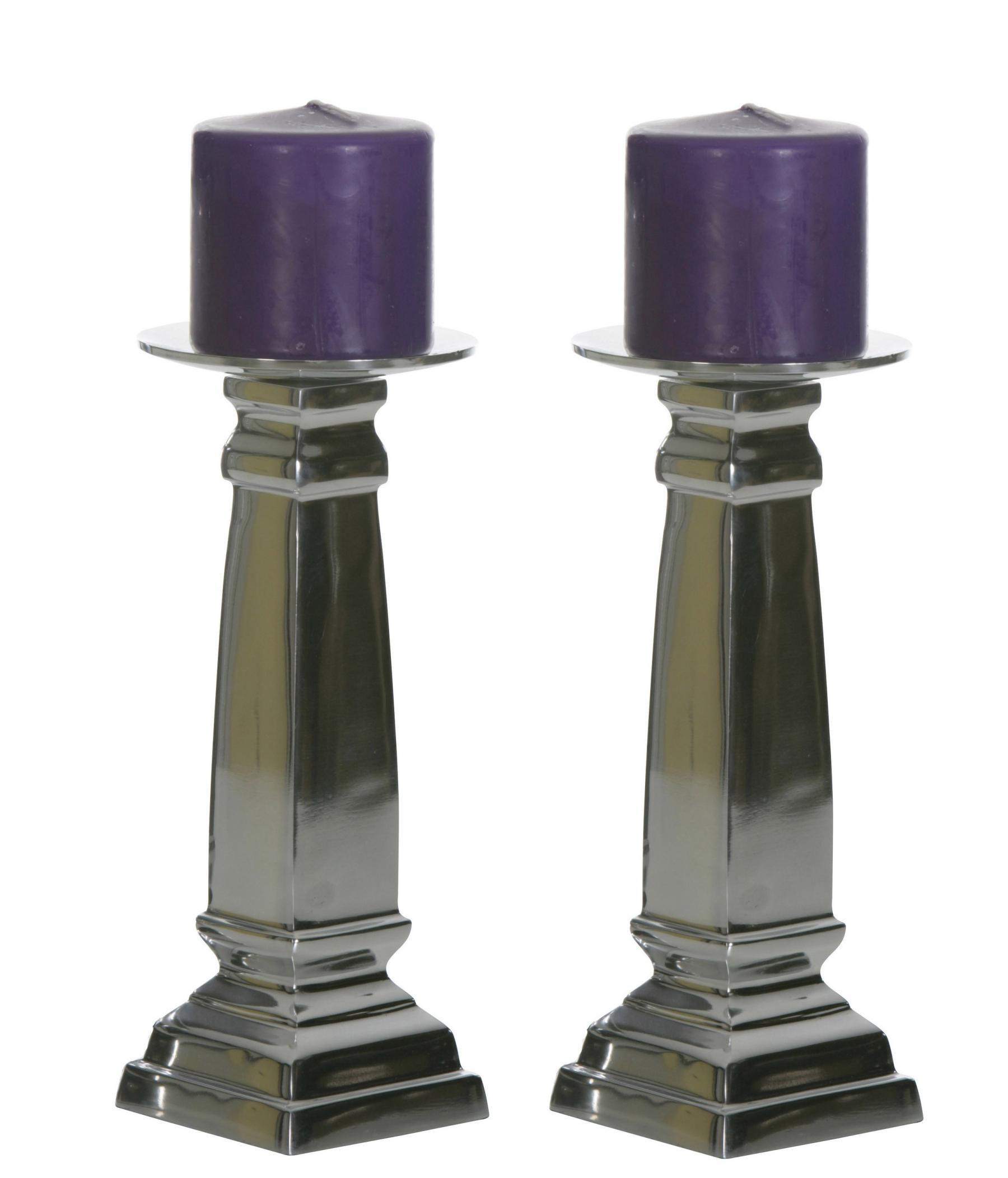 Aluminium Kerzenstander 2er Set Block M Teelichthalter Kerzenhalter