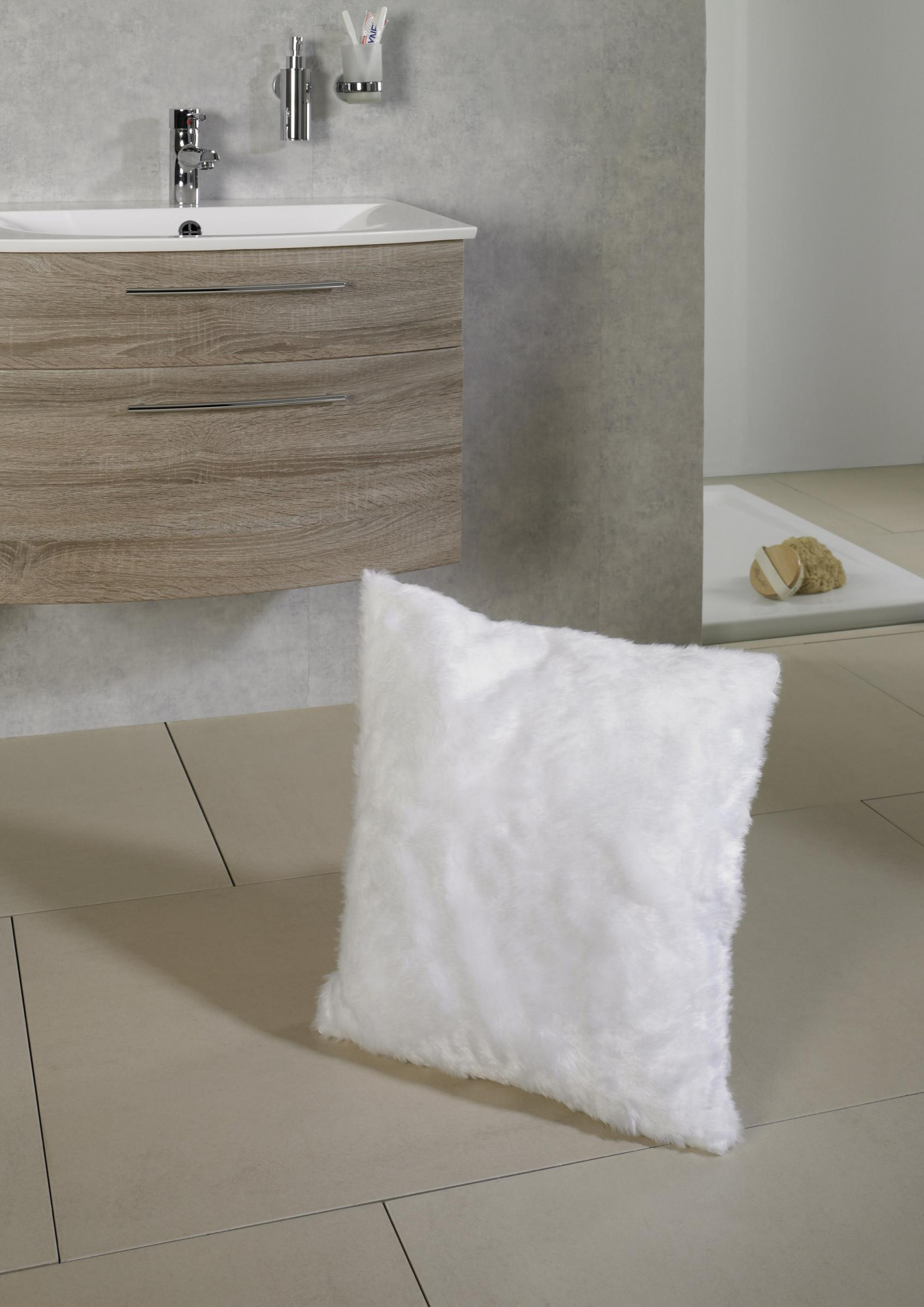 kissen bez ge maja wei in fellimitat 50x50 artra quadratisch mit rei verschluss kissenh lle. Black Bedroom Furniture Sets. Home Design Ideas