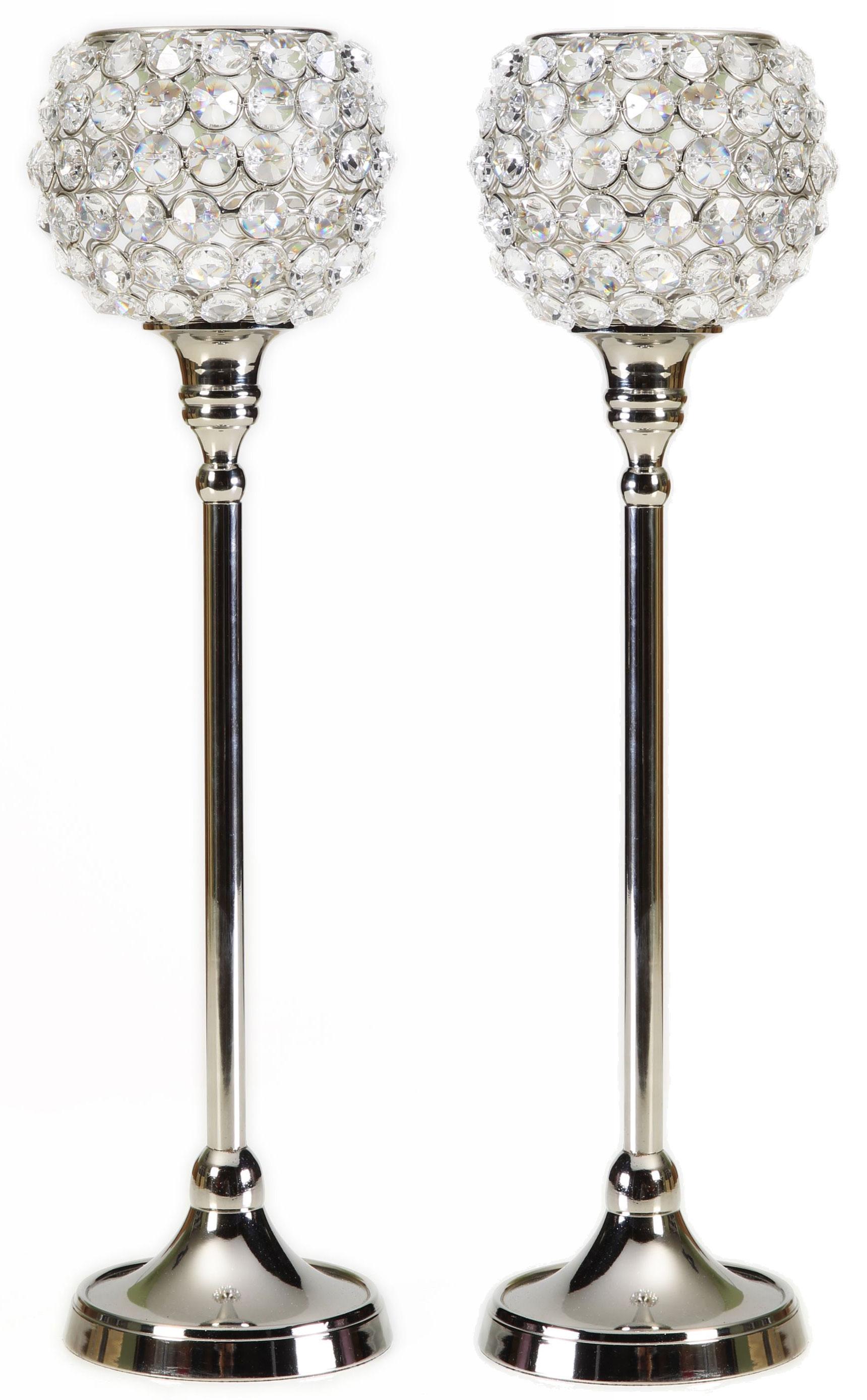 Kristall Kerzenständer Marie M 2er Set Teelichthalter Kerzenhalter